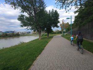 De vuelta paralelos al río Ebro