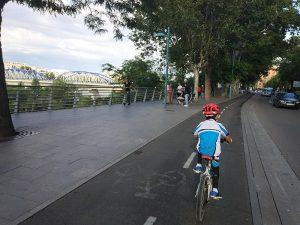 Carril bici por el centro de Zaragoza