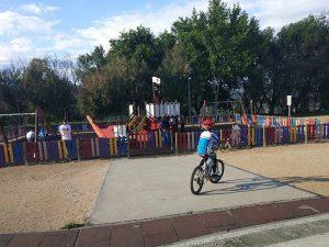 Parque al final de la ruta en bici
