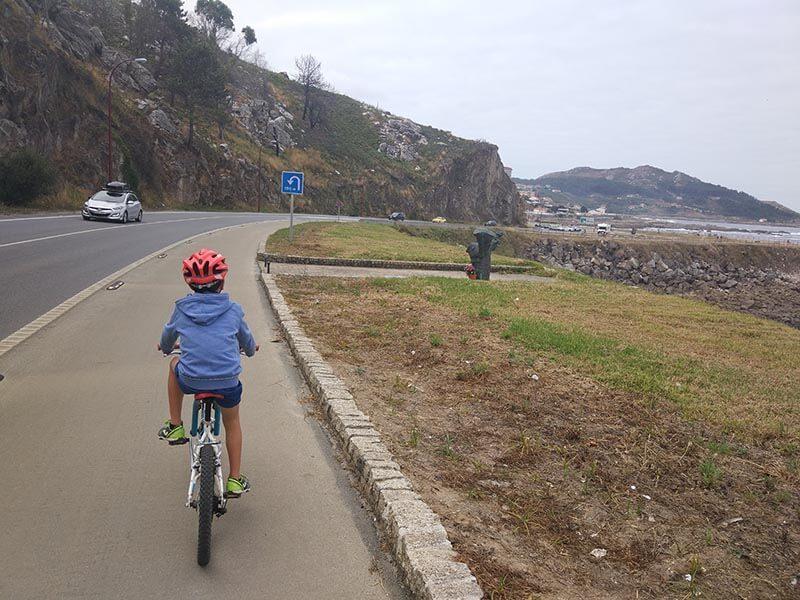 Salida de Bayona - Carril bici de Bayona