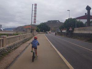 Vuelta desde Rocamar - Carril bici de Bayona