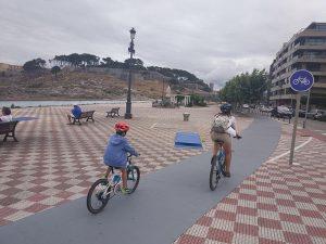Entrada a Bayona - Carril bici de Bayona