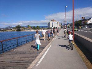 Peatones - Carril bici de Bayona