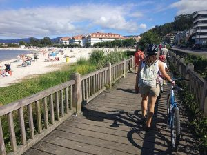 Nos desmontamos - Carril bici de Bayona