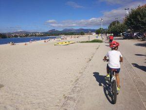 Playa de Bayona - Carril bici de Bayona