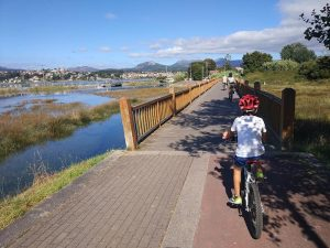 Puente de MAdera - Carril bici de Bayona