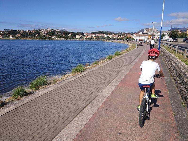 Desembocadura Río Miñor - Carril bici de Bayona