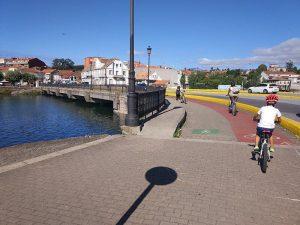 Entrada a San Pedro de la Ramallosa - Carril bici de Bayona