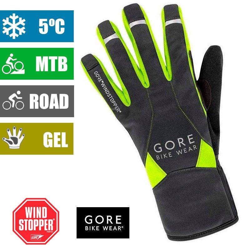 Guantes de ciclismo para Invierno Gore Wear Power WindStopper