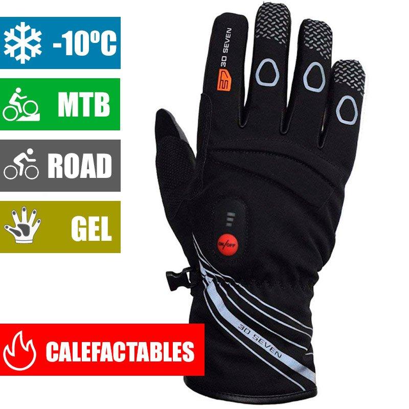 Guantes de invierno calefactables para bicicleta