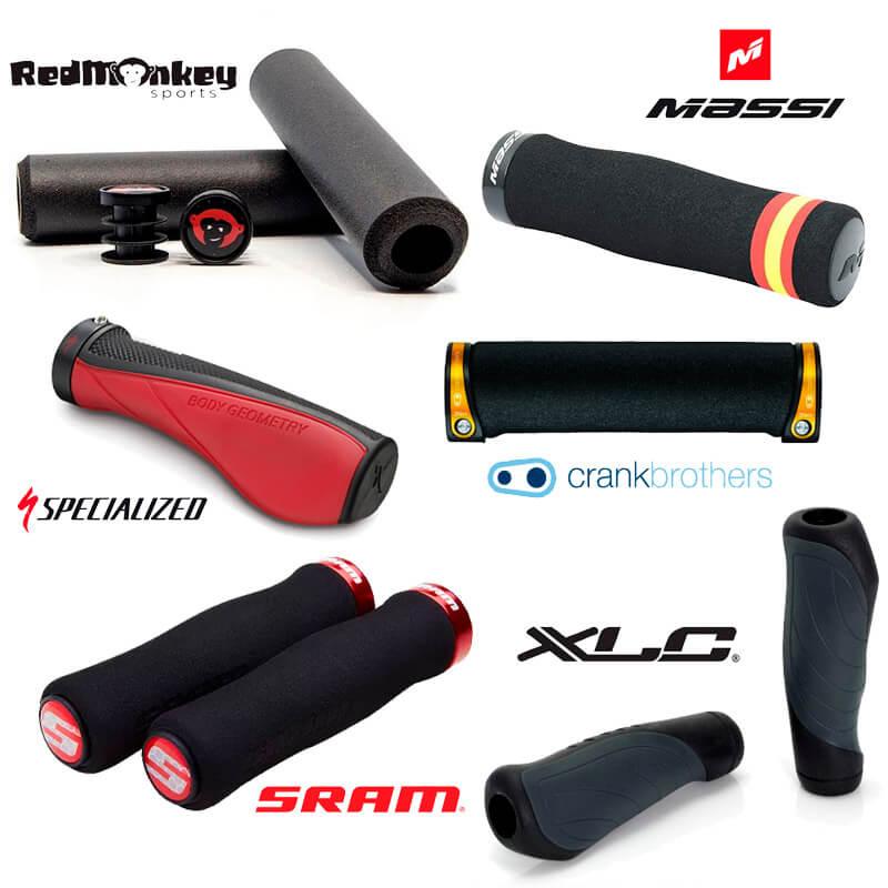 Puños MTB de silicona, espuma, ergonómicos y de goma