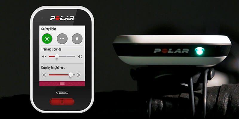 Luz GPS para biciceta Polar V650