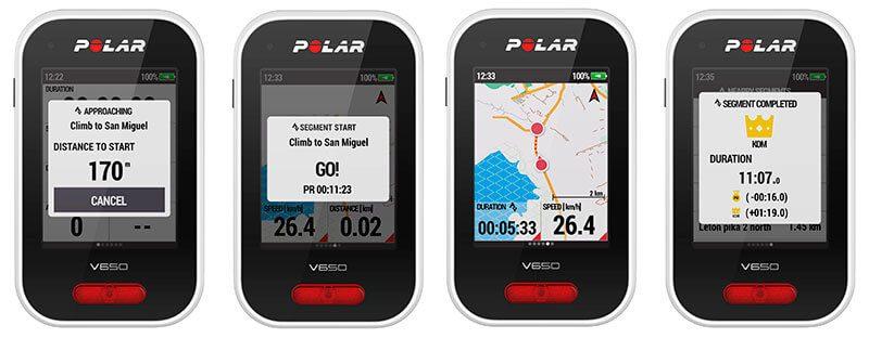 Strava en el GPS para ciclismo Polar V650