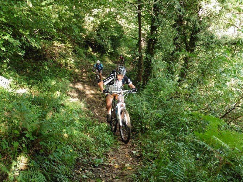 Subiendo por una Senda del Anillo Ciclista