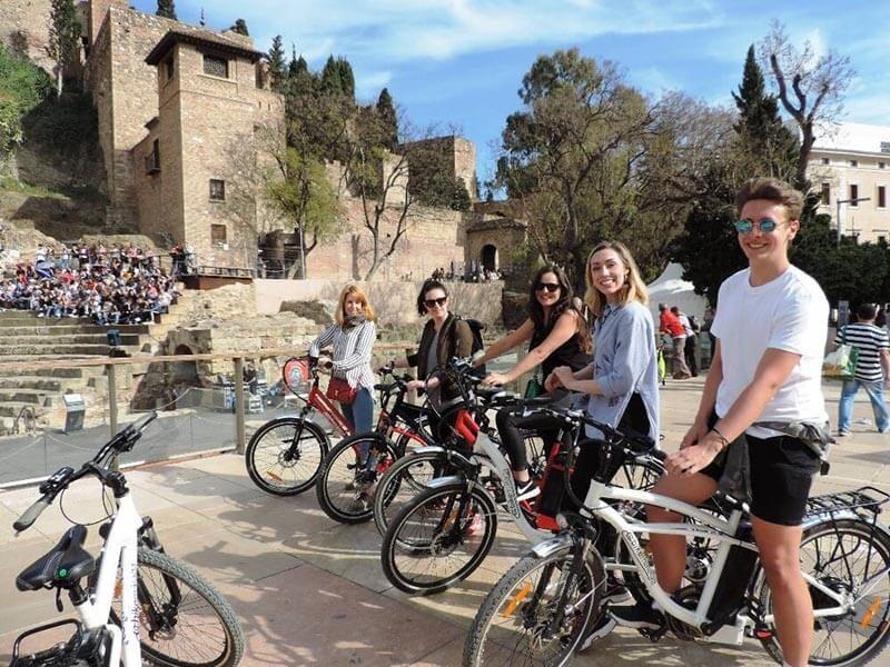 Alcazaba de Málaga en Bici