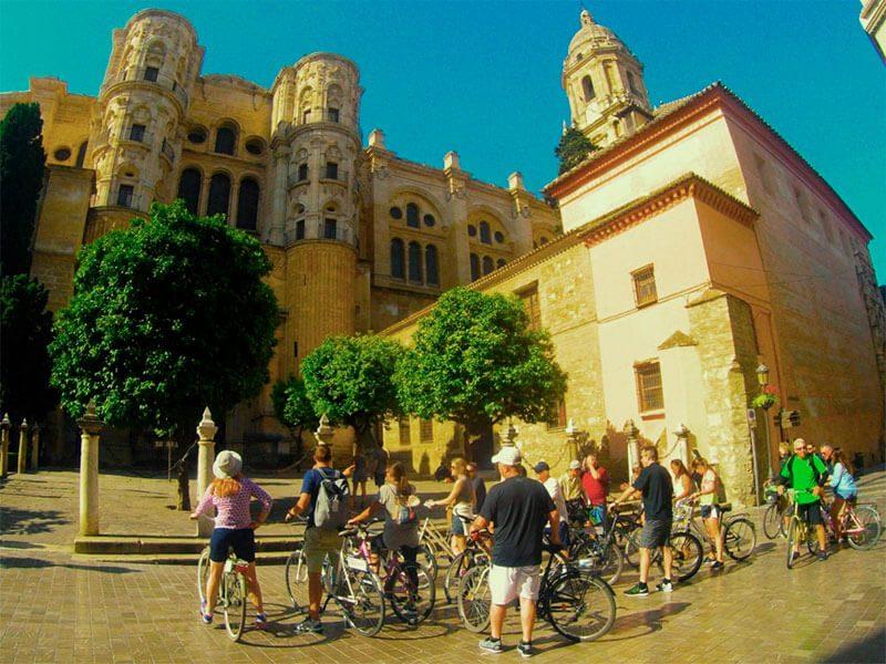 Catedral Málaga en Bici