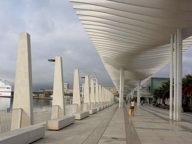 Precaución con los peatones en el Puerto