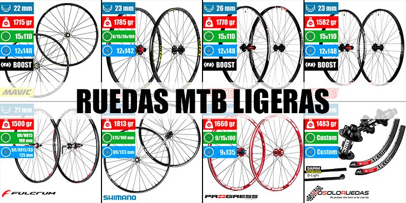 Ruedas MTB Ligeras y Baratas - Comparativa