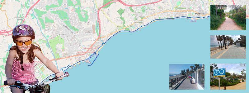 Ruta en bici con niños por Marbella y Puerto Banús