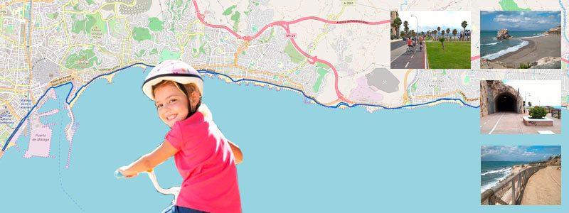 Ruta en bici con niños por las playas de Málaga