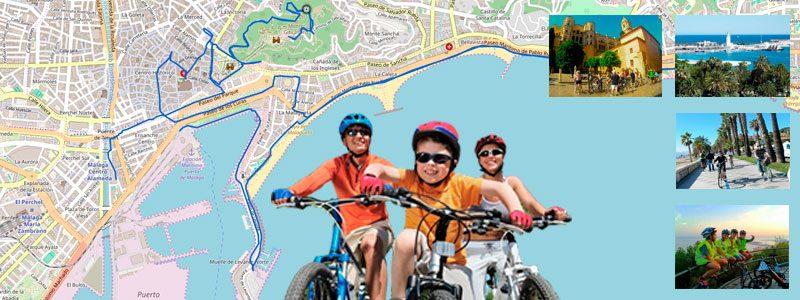 Tour turístico en bici por Málaga con niños