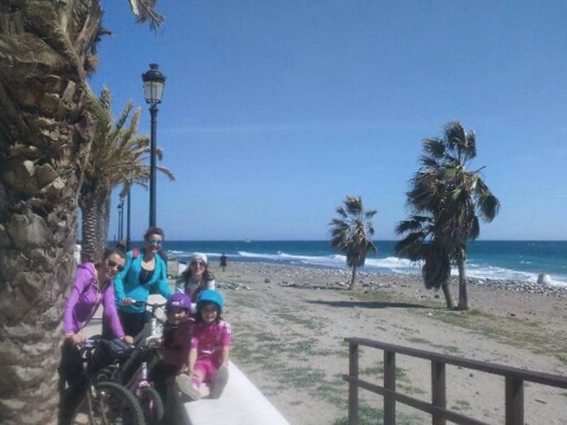 Ruta en bici con niños Puerto Banus