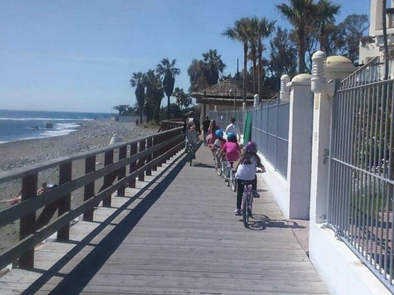 Ruta en bici con niños por Marbella