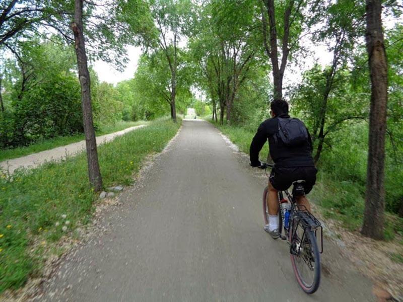 Carril Bici por el Parque Lineal del Manzanares