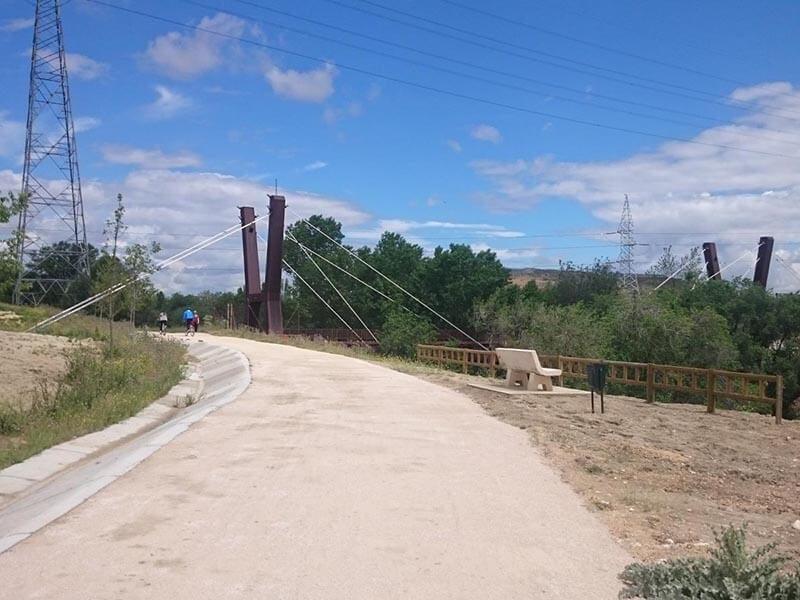 Carril bici, parque Lineal del Manzanares