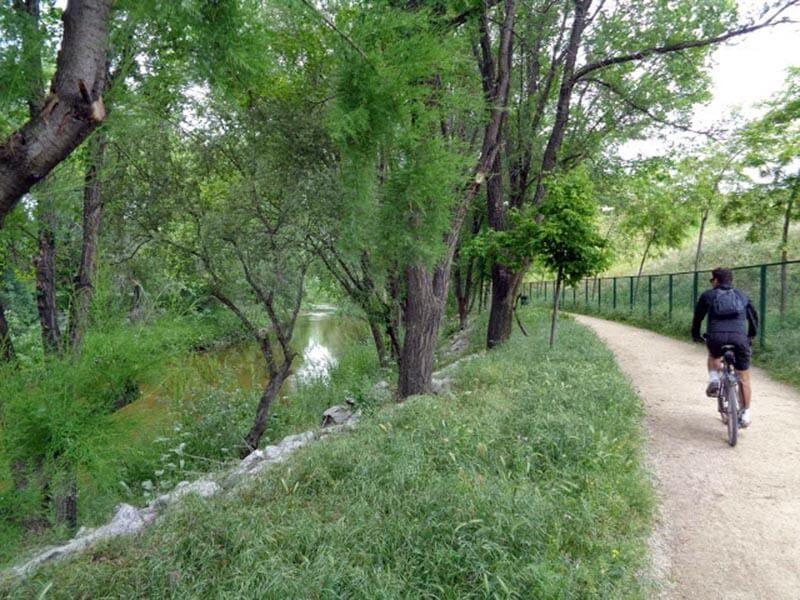 El río en el Parque Lineal del Manzanares