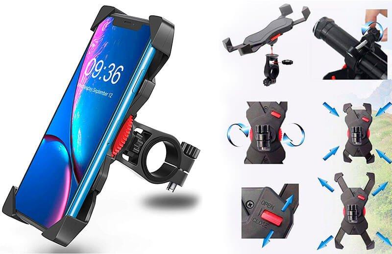 soporte rigido movil bici bovon