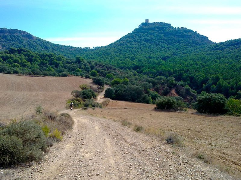 Monzón Castillo de La Mora en BTT
