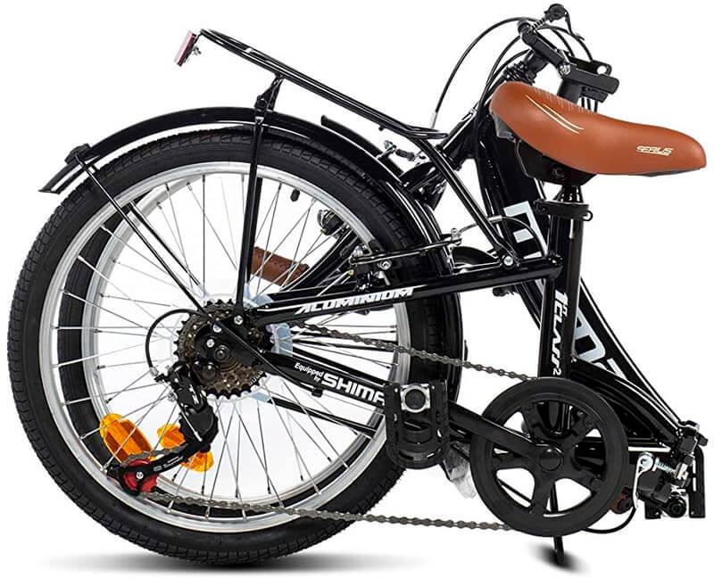 Bicicleta plegada ciudad moma