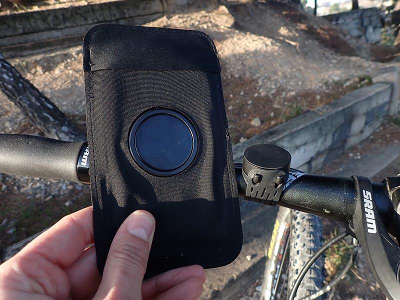 soporte móvil bici magnético
