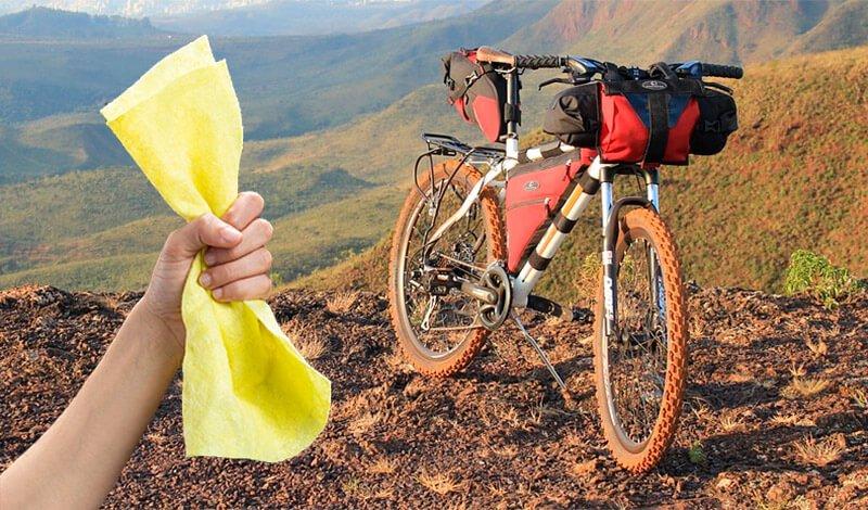 limpiar bolsa bikepacking